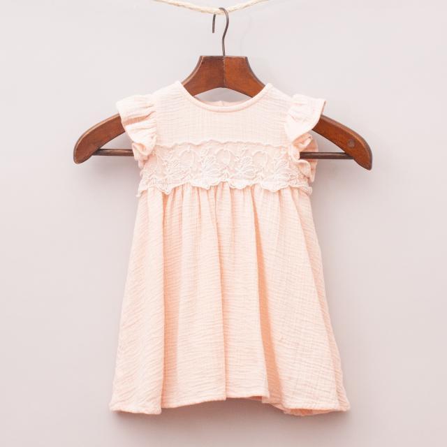 Next Peach Embellished Dress