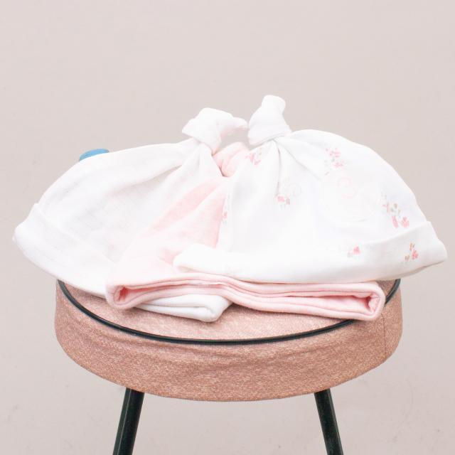 Next Pastel Baby Hat Set of 3 - Size 0-3Mths