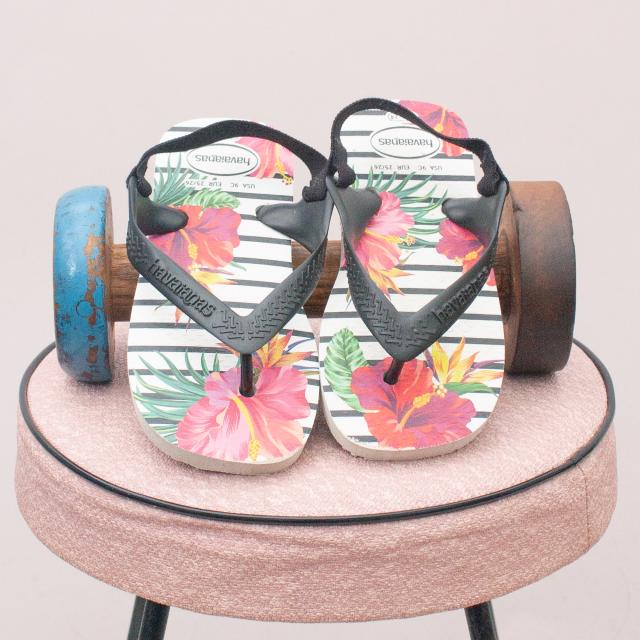 Havaiana's Floral Thongs - Size 23-24 (Age 1-3Yrs Approx.)