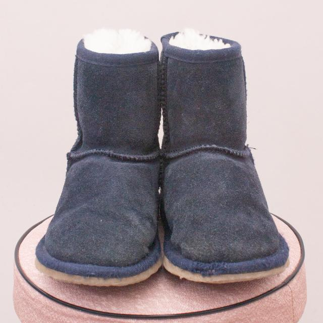 Peter Alexander Blue Ugg Boots - Size EU 34 (Age 5-7 Approx.)