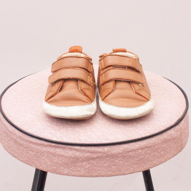 Old Soles Leather Sneakers - Size EU 19 (Age 0-12Mths Approx.)