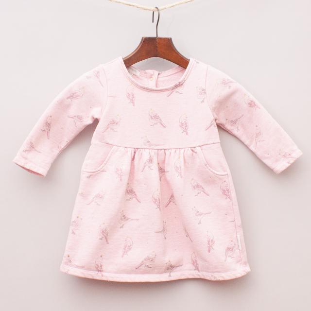 Purebaby Organic Cotton Bird Dress
