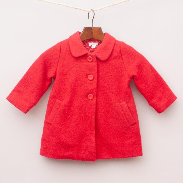 Purebaby Red Wool Coat