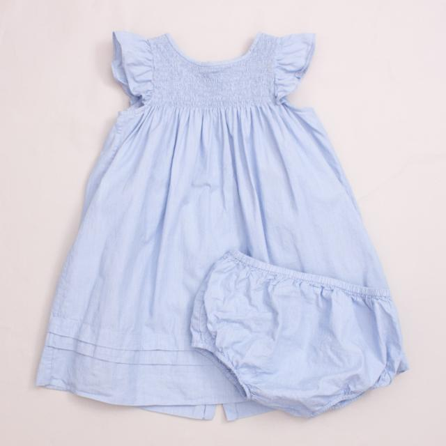Jacadi Pinstripe Dress & Bloomers