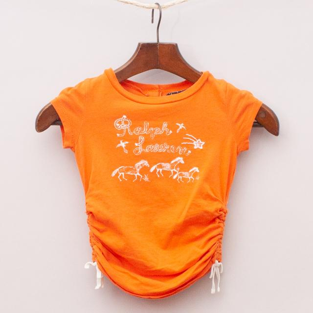 Ralph Lauren Ruched T-Shirt
