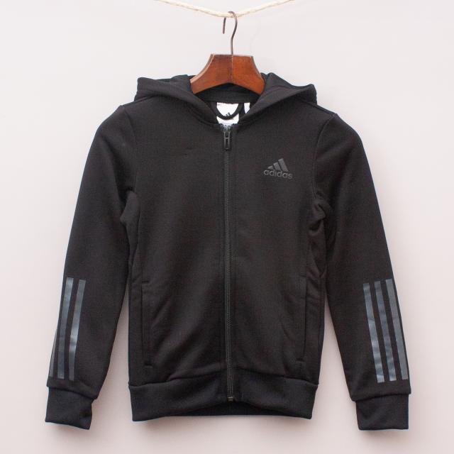 Adidas Black Hooded Jumper