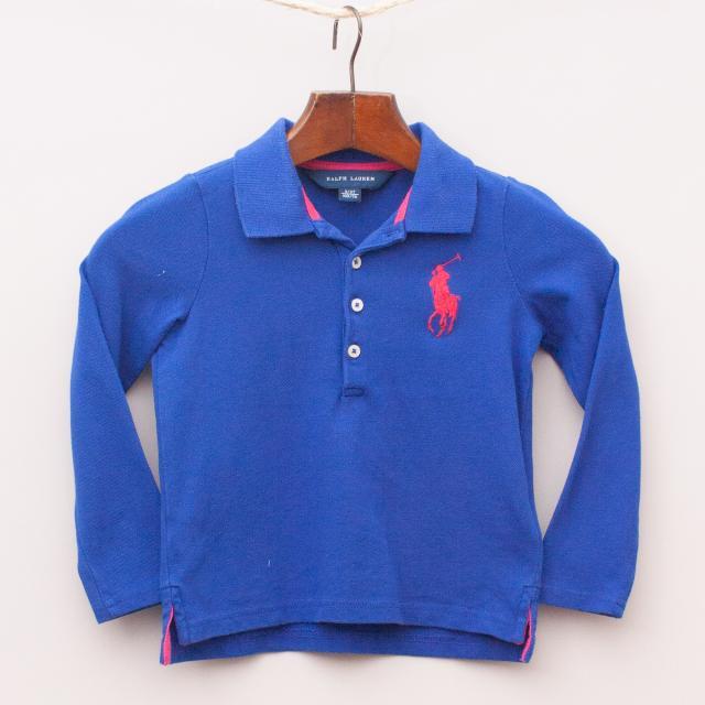 Ralph Lauren Blue Long Sleeve Polo