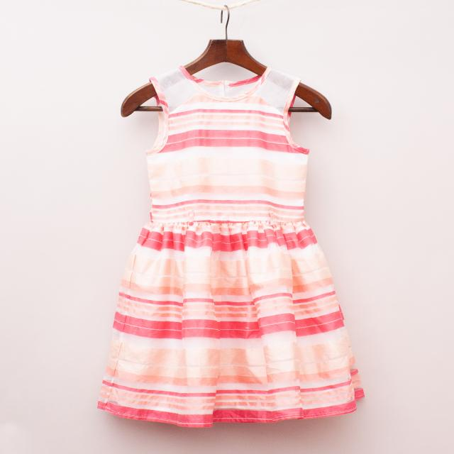 Origami Striped Dress