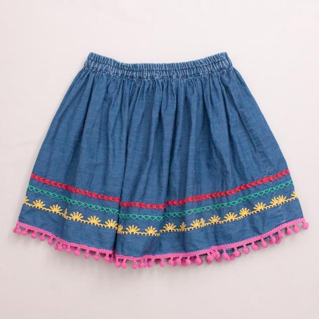 Milkshake Embroidered Skirt
