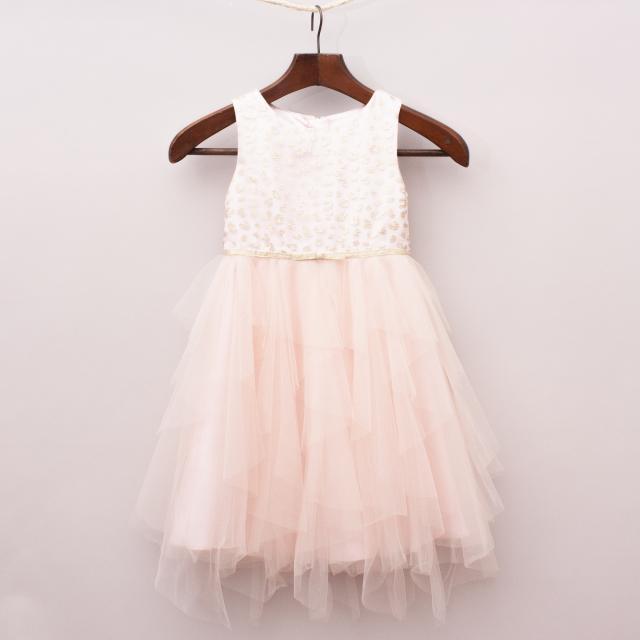 Monsoon Tulle & Embellished Dress