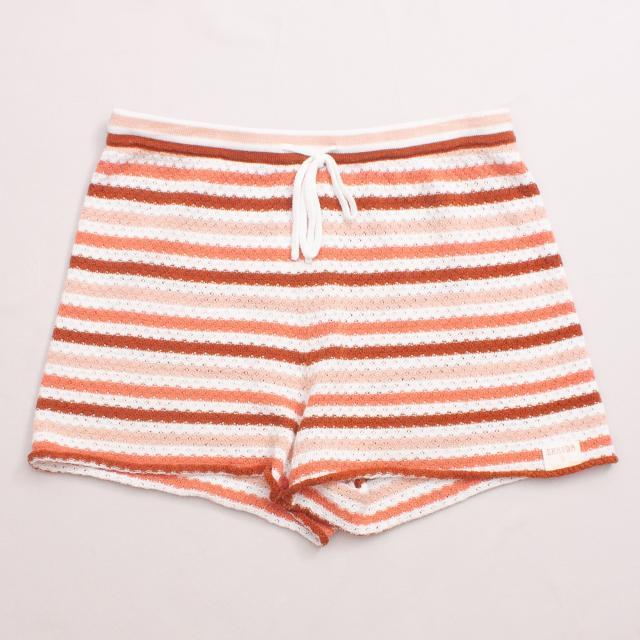 Ghanda Striped Woven Shorts